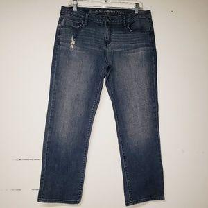 Simply VERA WANG Boyfriend Capri Jeans Size 6